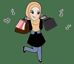 Miss Dua Hijabi cutie girl Eng.Version sticker #9337185