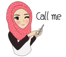 Miss Dua Hijabi cutie girl Eng.Version sticker #9337187