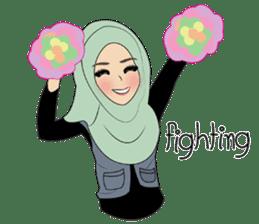 Miss Dua Hijabi cutie girl Eng.Version sticker #9337189