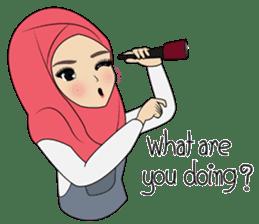 Miss Dua Hijabi cutie girl Eng.Version sticker #9337191