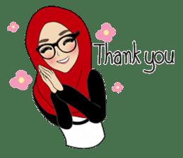 Miss Dua Hijabi cutie girl Eng.Version sticker #9337196