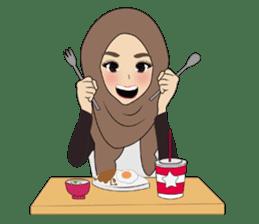 Miss Dua Hijabi cutie girl Eng.Version sticker #9337198