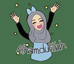Miss Dua Hijabi cutie girl Eng.Version sticker #9337201