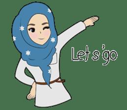 Miss Dua Hijabi cutie girl Eng.Version sticker #9337206