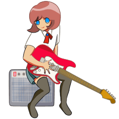 Electric guitar girl