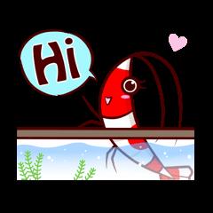 Benibachi Shrimp Official Sticker