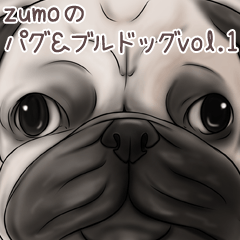 Pug and Bulldog sticker vol.1