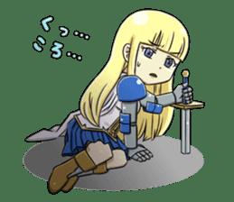 Woman Knight Sticker Part 2 sticker #9354284