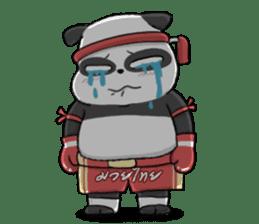 Muay Thai Panda1 (Eng) sticker #9354852