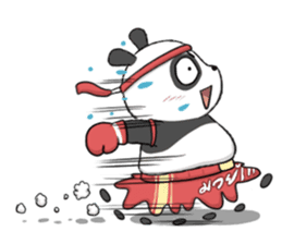Muay Thai Panda1 (Eng) sticker #9354864