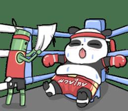 Muay Thai Panda1 (Eng) sticker #9354871