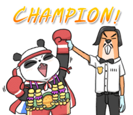 Muay Thai Panda1 (Eng) sticker #9354880