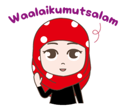 Cute Muslim girl, her name is LAILA. sticker #9357529