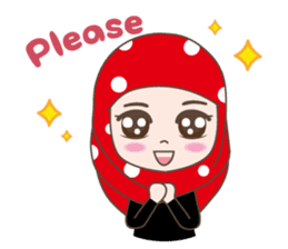 Cute Muslim girl, her name is LAILA. sticker #9357535