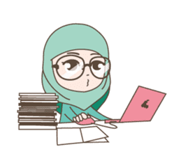 Cute Muslim girl, her name is LAILA. sticker #9357546