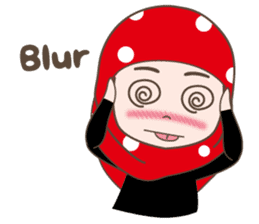 Cute Muslim girl, her name is LAILA. sticker #9357550