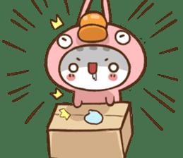 pink black cat (Chinese) sticker #9371317