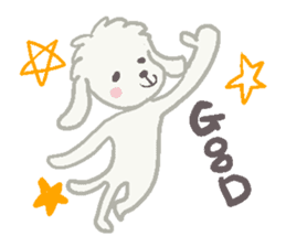 Toy Poodle and girl sticker #9385749