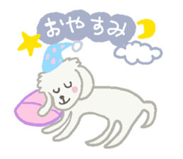 Toy Poodle and girl sticker #9385750