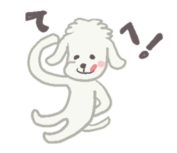 Toy Poodle and girl sticker #9385762