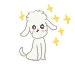 Toy Poodle and girl sticker #9385777