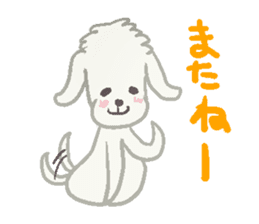 Toy Poodle and girl sticker #9385779