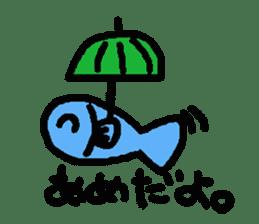 Kawaii Fish (Sakana) sticker #9395309