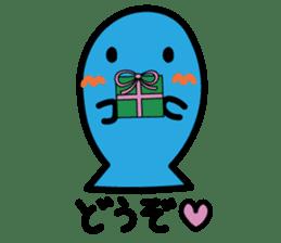 Kawaii Fish (Sakana) sticker #9395333