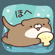 สติ๊กเกอร์ไลน์ Self-paced otter