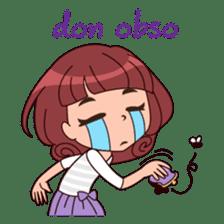 Cute Korean Girl sticker #9403945