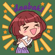 Cute Korean Girl sticker #9403946