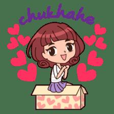 Cute Korean Girl sticker #9403976