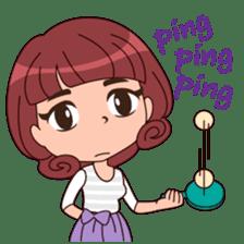 Cute Korean Girl sticker #9403977