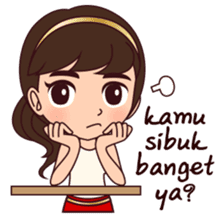 Cewek Bingung sticker #9407528