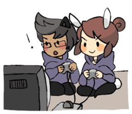 Daily life of Chu and Kun sticker #9408770