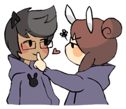 Daily life of Chu and Kun sticker #9408773