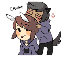 Daily life of Chu and Kun sticker #9408781