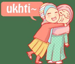 sister's hijab diary sticker #9414334