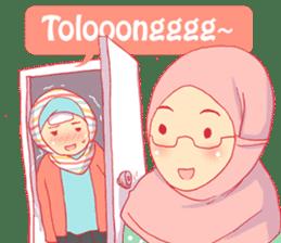 sister's hijab diary sticker #9414340