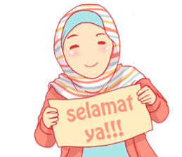 sister's hijab diary sticker #9414343