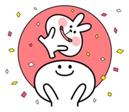 Spoiled Rabbit [Smile Person] sticker #9425121