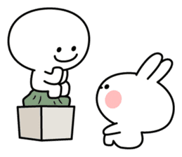 Spoiled Rabbit [Smile Person] sticker #9425134