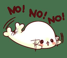 Fluffy seal! sticker #9433959