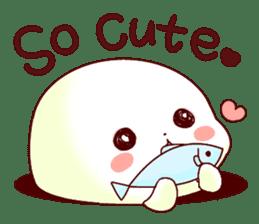Fluffy seal! sticker #9433970