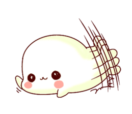 Fluffy seal! sticker #9433976