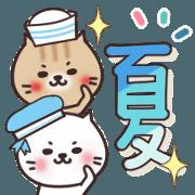 สติ๊กเกอร์ไลน์ Summer of Necomaru [torasiro] 3
