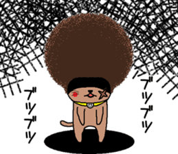 The Seven Afro Cats #3 -Raging Cat- sticker #9439080