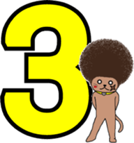 The Seven Afro Cats #3 -Raging Cat- sticker #9439103
