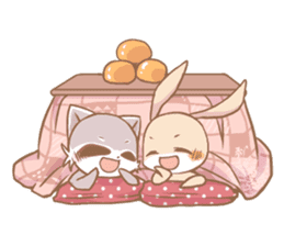 Love!Raccoons&Rabbit3 sticker #9440025