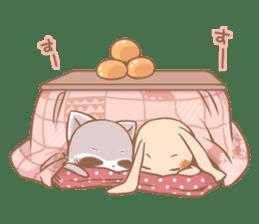 Love!Raccoons&Rabbit3 sticker #9440026
